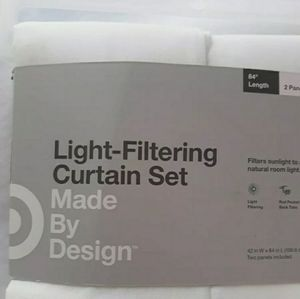 Light filtering set of 4 curtins
